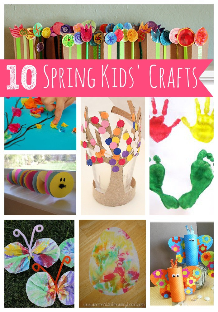 Best ideas about Spring Craft Ideas For Toddlers . Save or Pin 10 Spring Kids' Crafts Now.