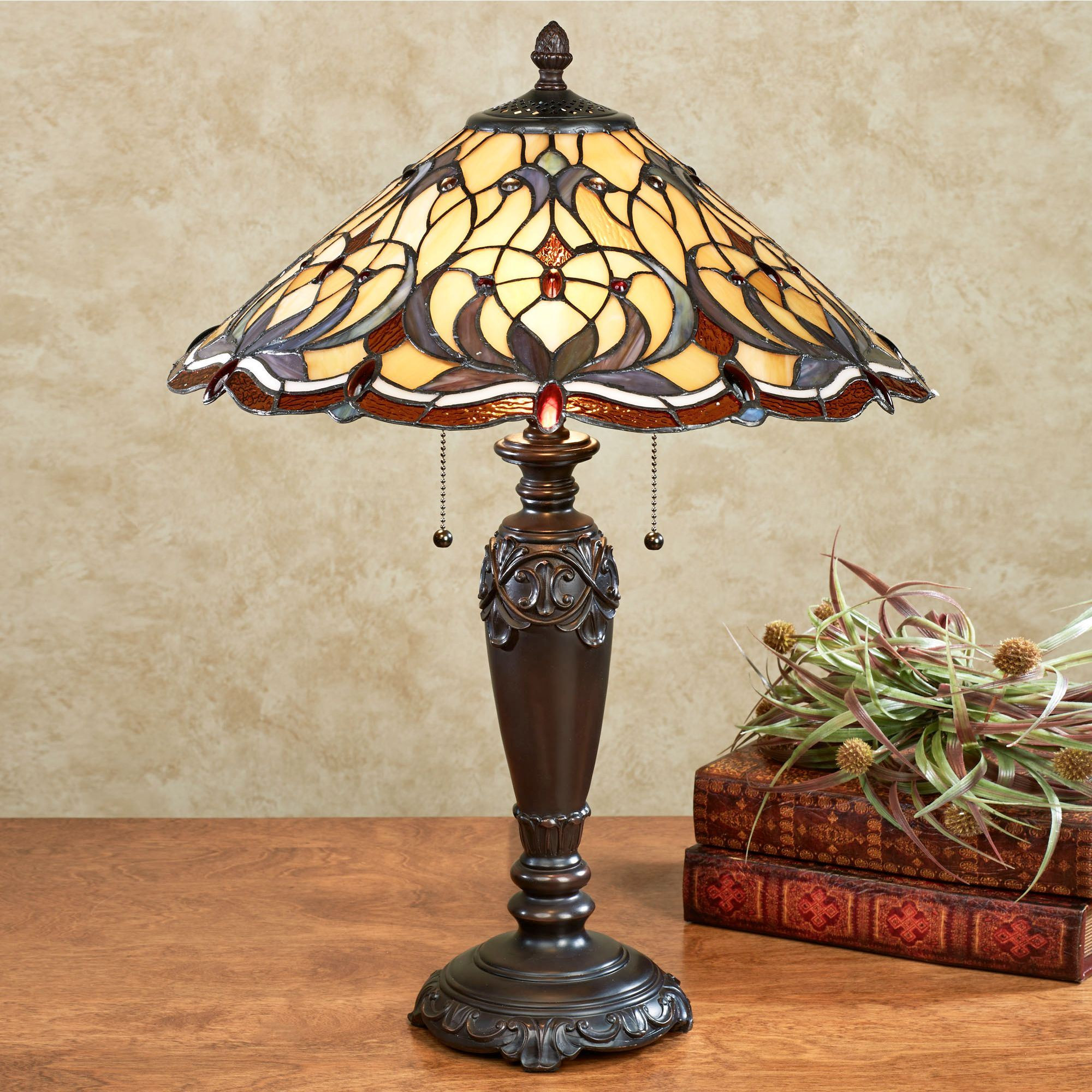 Best ideas about Stained Glass Desk Lamp . Save or Pin Michaela Stained Glass Table Lamp with CFL Bulbs Now.
