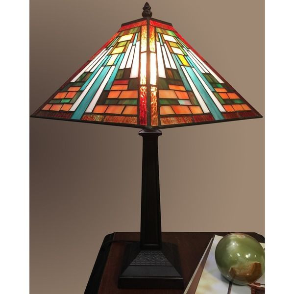 Best ideas about Stained Glass Desk Lamp . Save or Pin Tiffany Style Stained Glass Table Lamp Desk Art Deco Now.