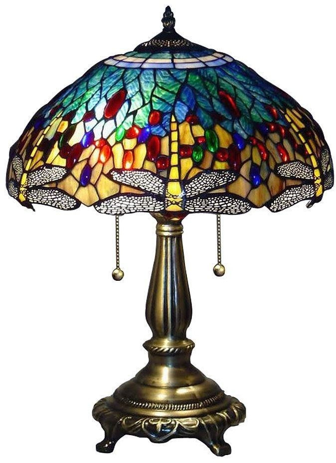 Best ideas about Stained Glass Desk Lamp . Save or Pin Tiffany Blue Dragonfly 25 In Bronze Table Lamp Desk Now.