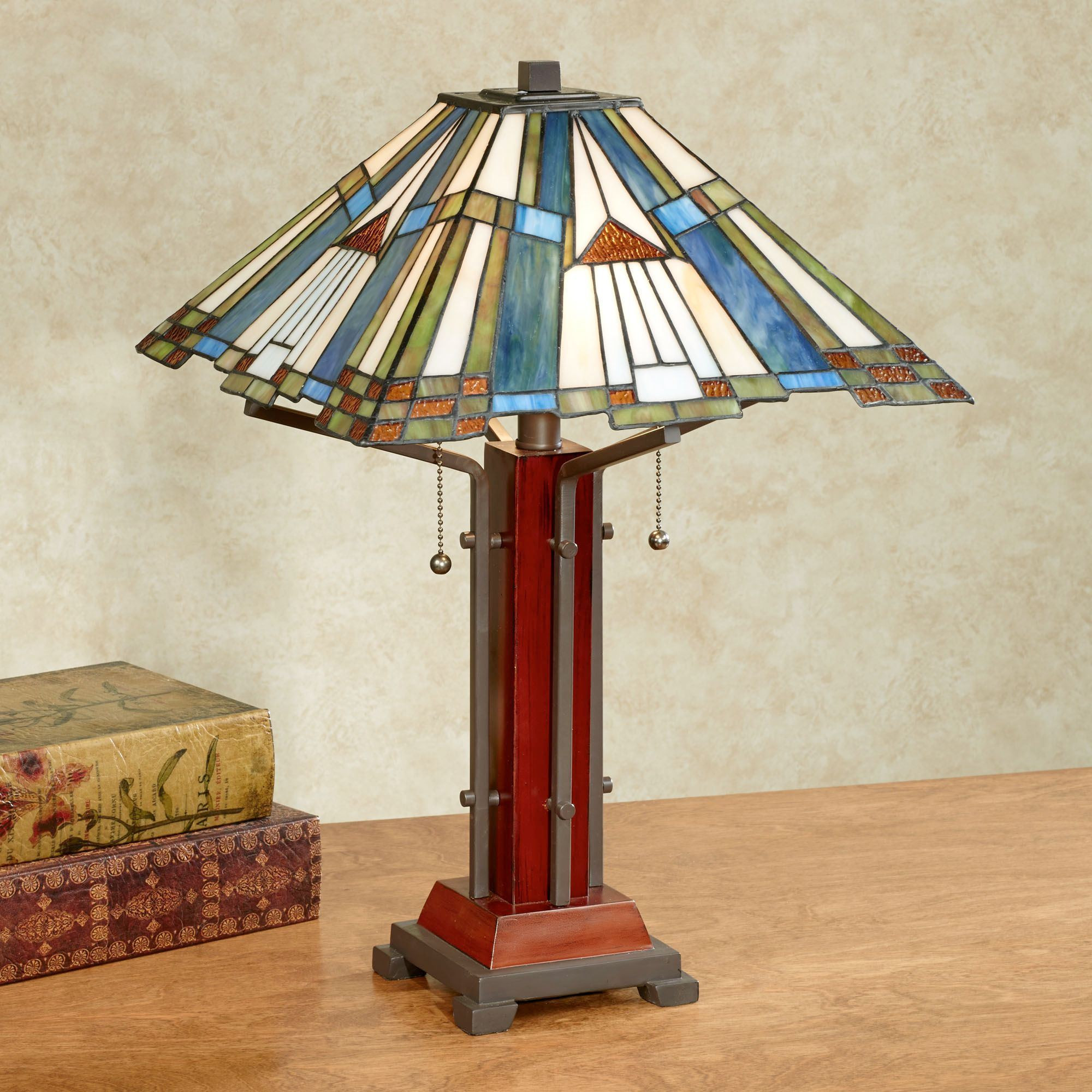Best ideas about Stained Glass Desk Lamp . Save or Pin El Camino Southwest Stained Glass Table Lamp Now.