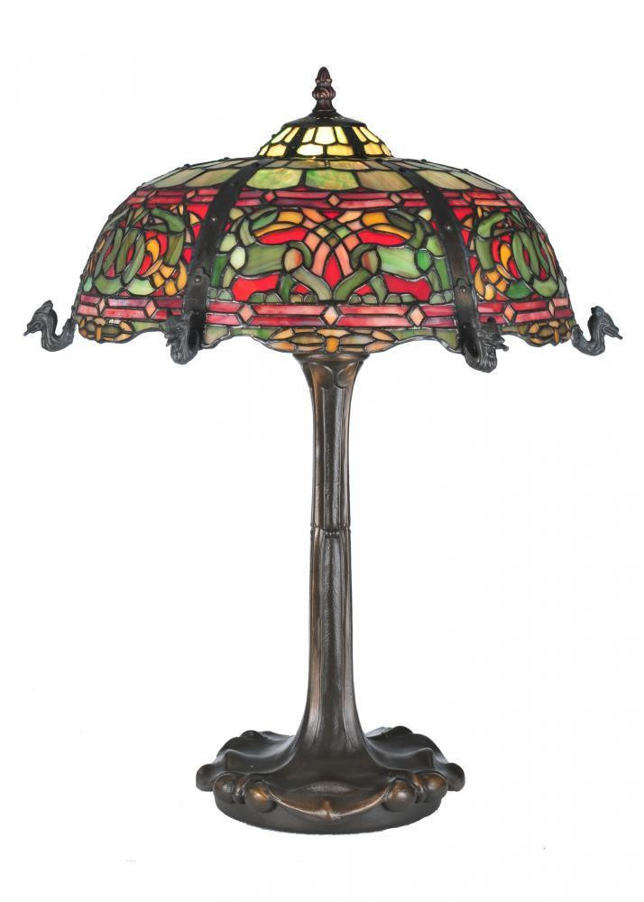Best ideas about Stained Glass Desk Lamp . Save or Pin MEYDA TIFFANY VIKING RED & GREEN STAINED GLASS NIGHT STAND Now.