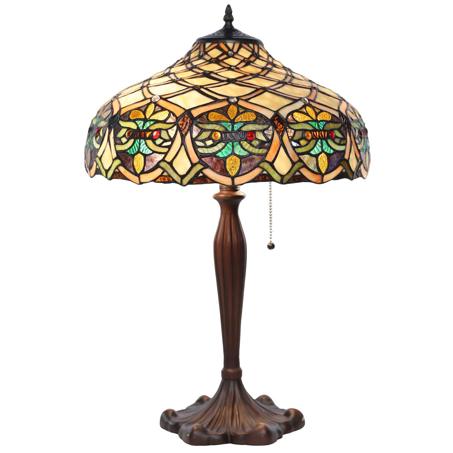 "Best ideas about Stained Glass Desk Lamp . Save or Pin Lattice Tiffany Style Stained Glass 25"" H Table Lamp Now."