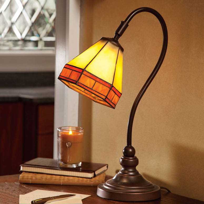Best ideas about Stained Glass Desk Lamp . Save or Pin Tiffany Style Stained Glass Mission Desk Lamp The Green Head Now.
