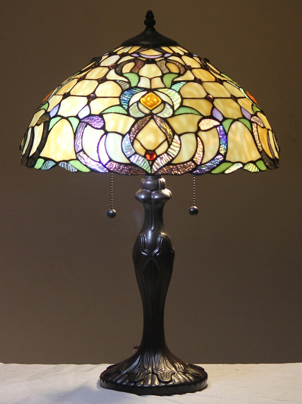 "Best ideas about Stained Glass Desk Lamp . Save or Pin Tiffany Style Stained Glass Table Lamp ""Dublin"" FREE SHIP Now."