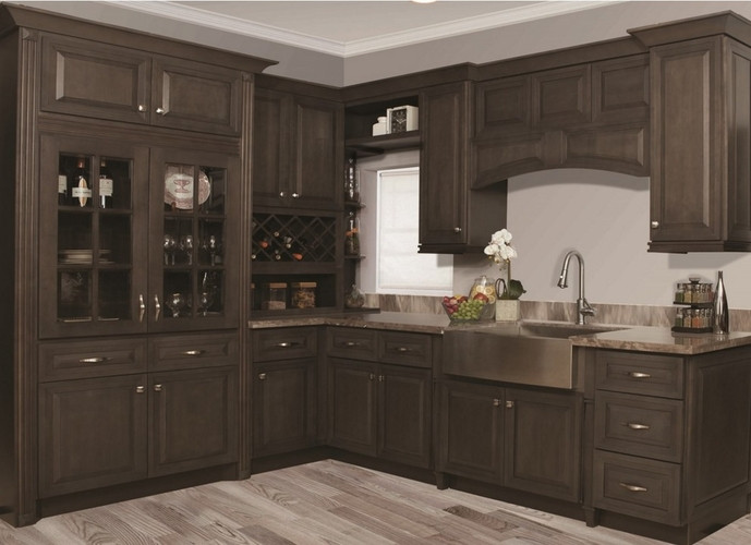 Best ideas about Stained Kitchen Cabinets . Save or Pin Stone Gray Stained Kitchen Cabinets Now.