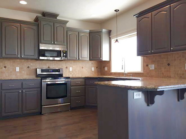 Best ideas about Stained Kitchen Cabinets . Save or Pin Gray Stained Kitchen Cabinets Traditional Kitchen Now.