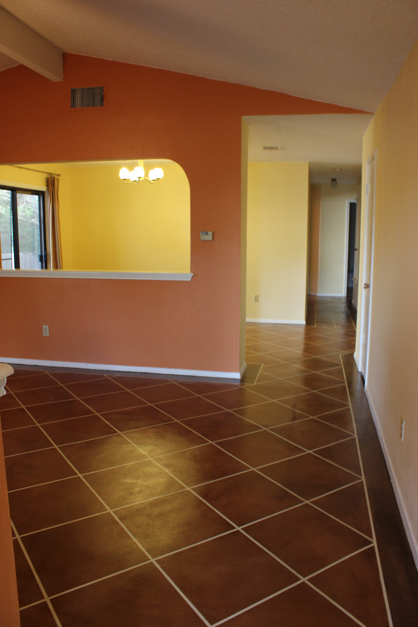 Best ideas about Staining Concrete Floor DIY . Save or Pin An update on our DIY stained concrete floors Now.