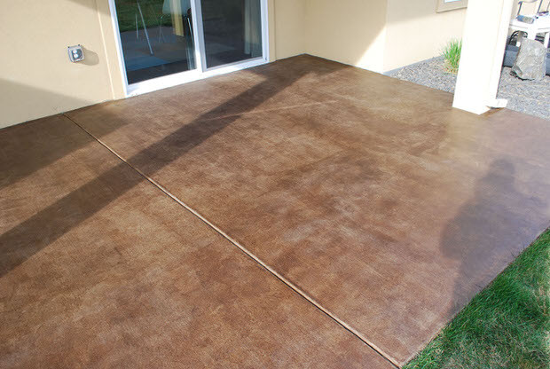 Best ideas about Staining Concrete Floor DIY . Save or Pin DIY Project How to Stain a Concrete Patio Now.