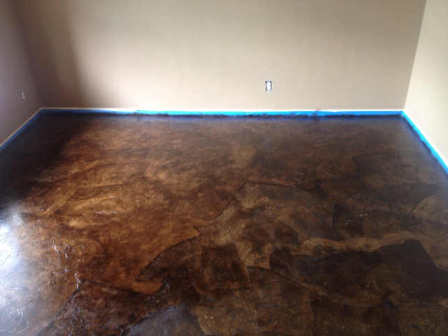 Best ideas about Staining Concrete Floor DIY . Save or Pin DIY PAPER BAG FLOORS THAT LOOK LIKE STAINED CONCRETE Now.