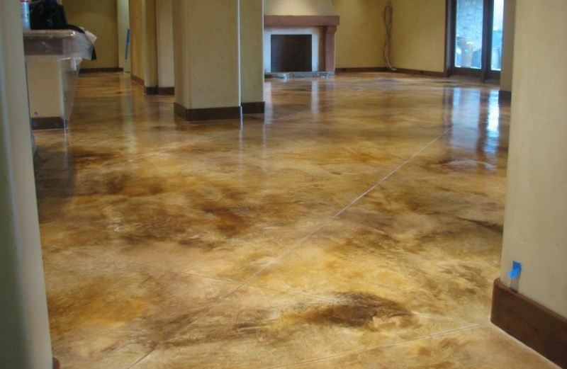 Best ideas about Staining Concrete Floor DIY . Save or Pin Stain Interior Concrete Floors Yourself Now.