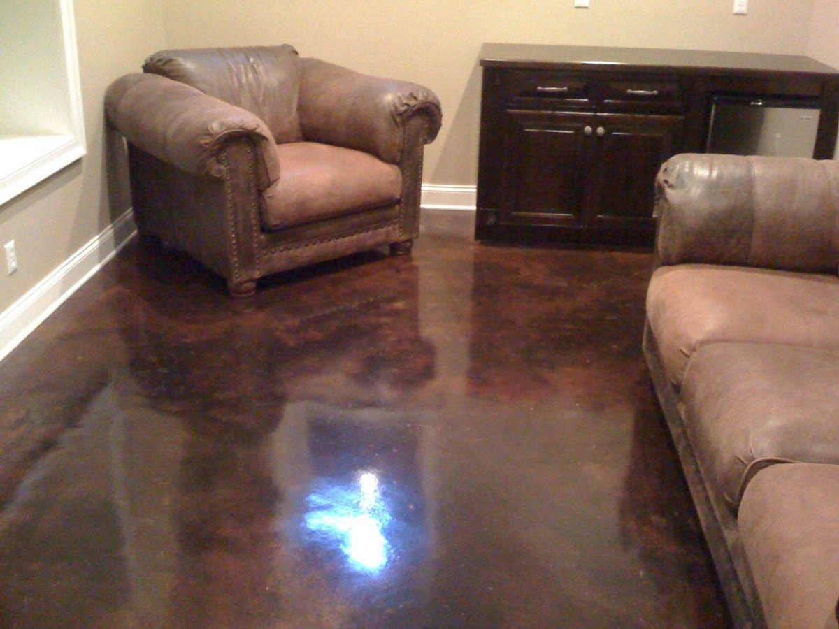 Best ideas about Staining Concrete Floor DIY . Save or Pin Stained Concrete DIY How to Stain Concrete Now.