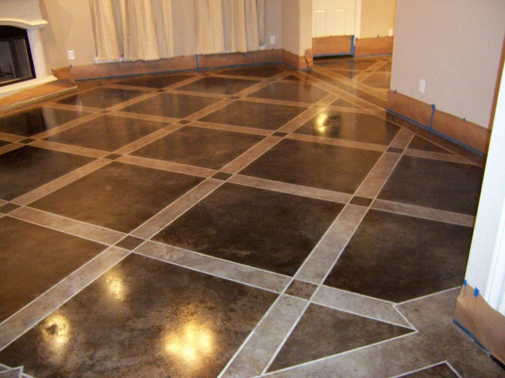 Best ideas about Staining Concrete Floor DIY . Save or Pin DIY Stained Concrete Floors Now.