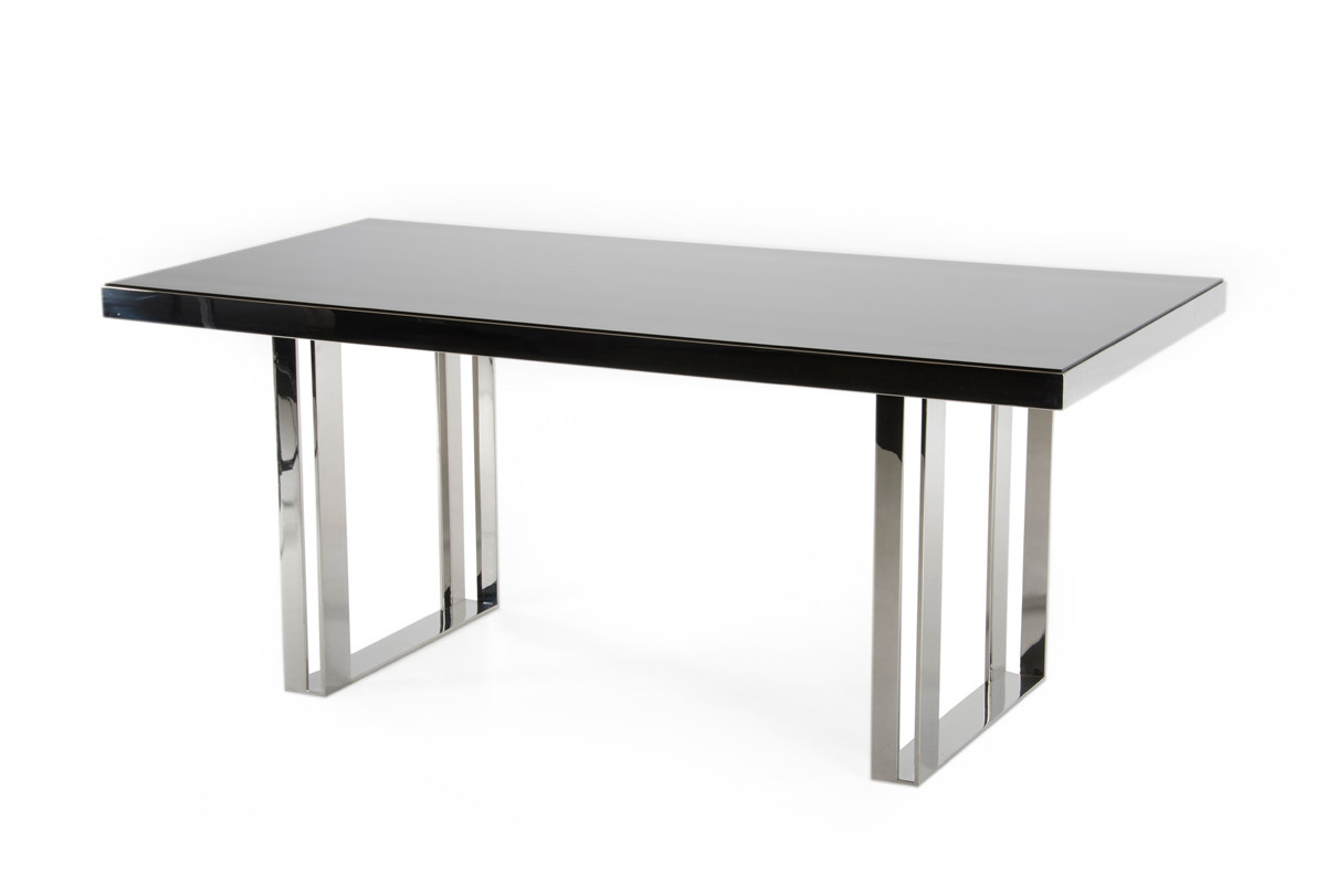 Best ideas about Stainless Steel Dining Table . Save or Pin Modrest Courtland Modern Stainless Steel Dining Table Now.