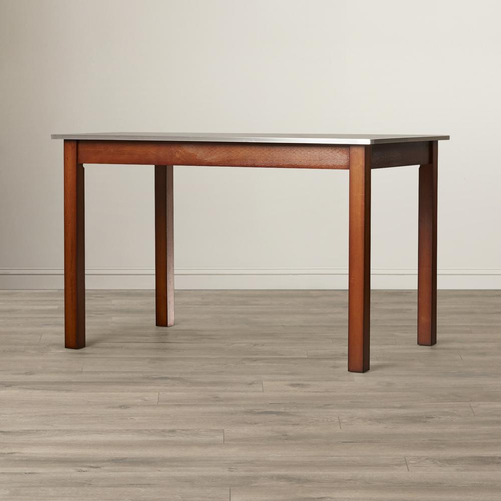 Best ideas about Stainless Steel Dining Table . Save or Pin Carolina Cottage Carter Chestnut Brown Stainless Steel Top Now.