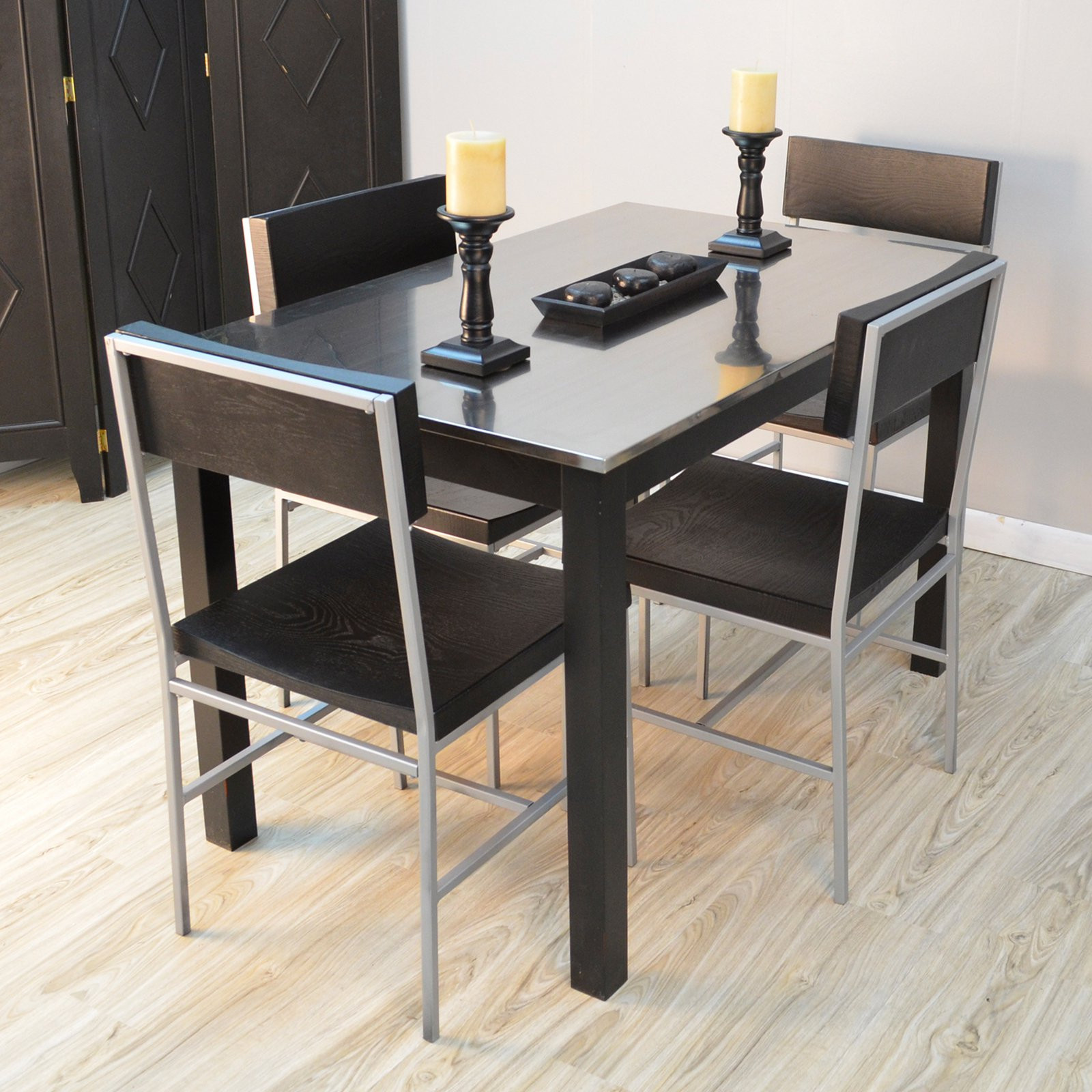 Best ideas about Stainless Steel Dining Table . Save or Pin Carolina Morgan Stainless Steel Top Dining Table Dining Now.