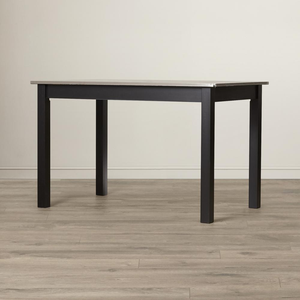 Best ideas about Stainless Steel Dining Table . Save or Pin Carolina Cottage Carter Black Stainless Steel Top Dining Now.