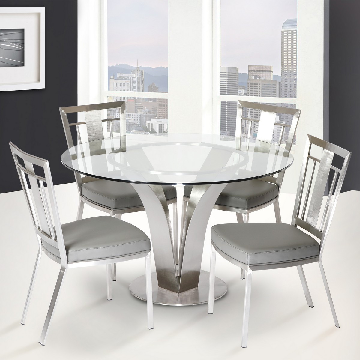 Best ideas about Stainless Steel Dining Table . Save or Pin Dining Chairs For Stainless Steel Table Top Stainless Now.