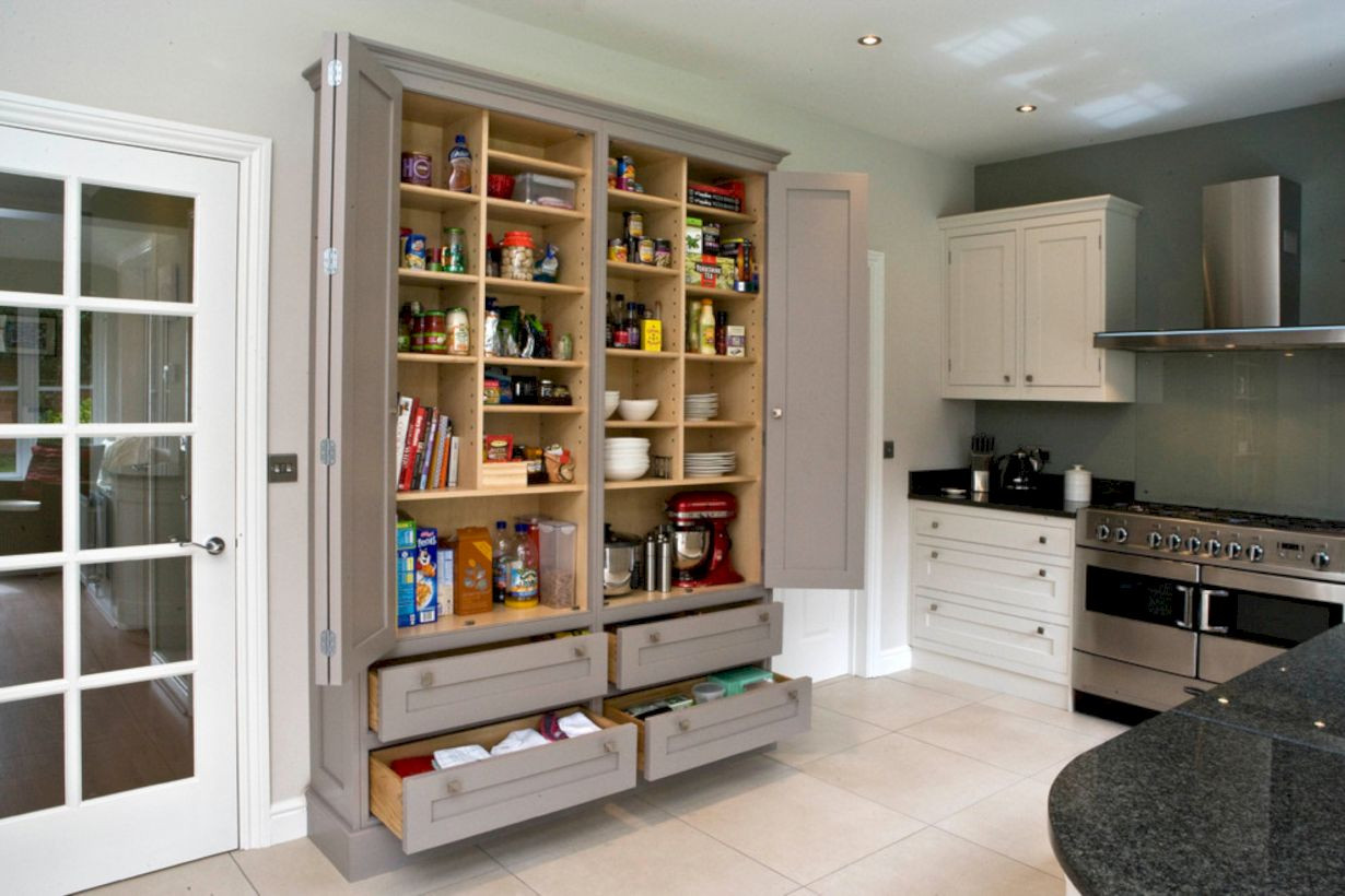 Best ideas about Stand Alone Kitchen Pantry . Save or Pin 55 Amazing Stand Alone Kitchen Pantry Design Ideas Round Now.