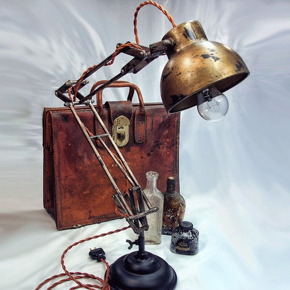 Best ideas about Steampunk Desk Lamp . Save or Pin Architects Lamp Steampunk Industrial lamp Desk Lamp Now.