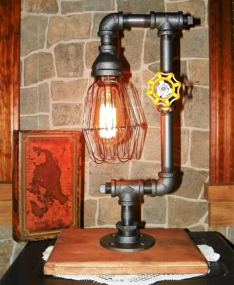 Best ideas about Steampunk Desk Lamp . Save or Pin Handcrafted Industrial Pipe Lamp steampunk style desk Now.