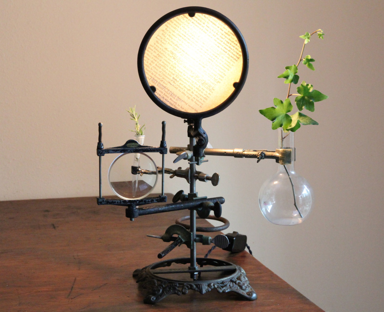 Best ideas about Steampunk Desk Lamp . Save or Pin Steampunk lamp industrial desk lamp chemistry table lamp Now.
