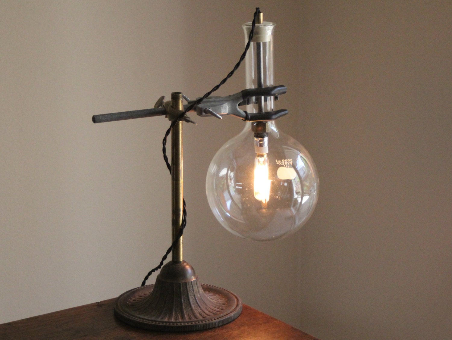 Best ideas about Steampunk Desk Lamp . Save or Pin Steampunk lamp Industrial desk light science chemistry table Now.