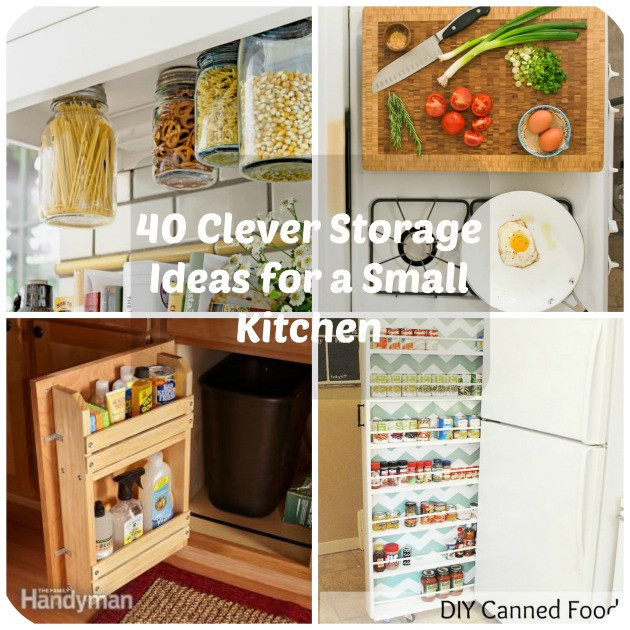 Best ideas about Storage Ideas For Small Kitchens . Save or Pin 40 Clever Storage Ideas for a Small Kitchen Now.