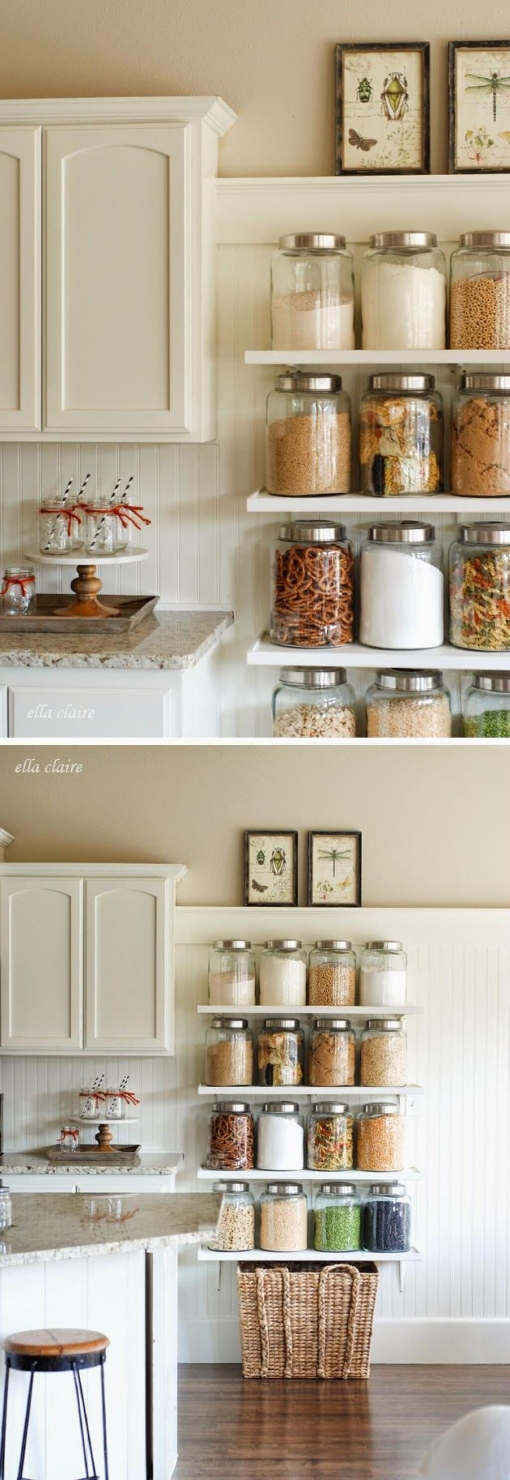 Best ideas about Storage Ideas For Small Kitchens . Save or Pin 35 Best Small Kitchen Storage Organization Ideas and Now.
