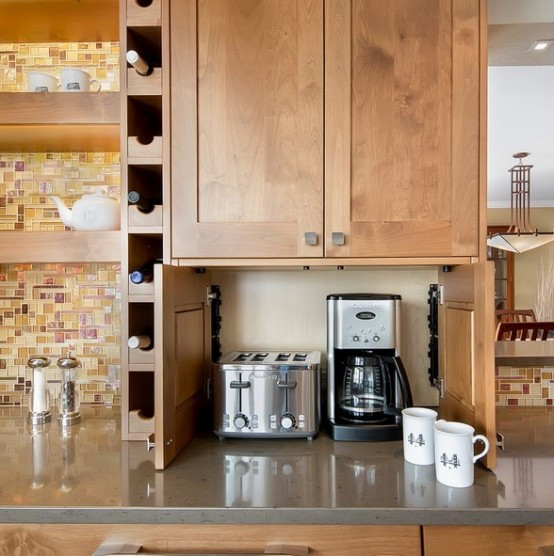 Best ideas about Storage Ideas For Small Kitchens . Save or Pin 42 Creative Appliances Storage Ideas For Small Kitchens Now.