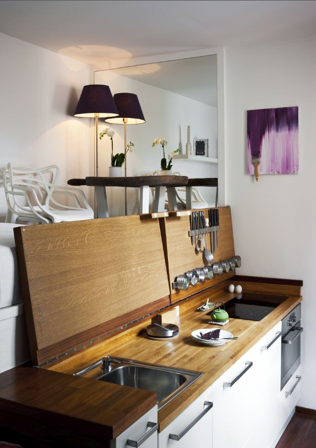 Best ideas about Studio Apartment Kitchen Ideas . Save or Pin Best 25 Hidden kitchen ideas on Pinterest Now.