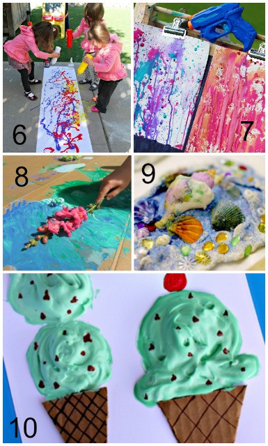 Best ideas about Summer Art Project For Kids . Save or Pin Summer Art Activities for Kids Mess for Less Now.