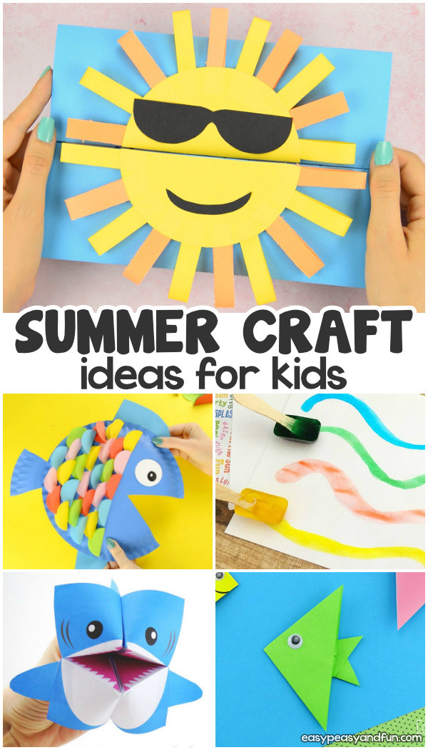 Best ideas about Summer Art Project For Kids . Save or Pin Summer Crafts Easy Peasy and Fun Now.