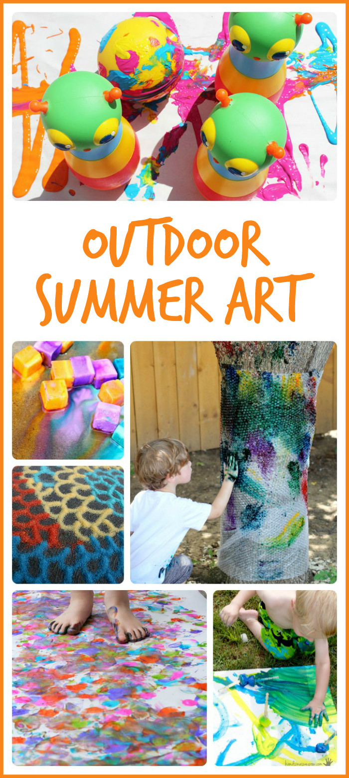 Best ideas about Summer Art Project For Kids . Save or Pin 15 Summer Art Projects to Try Outside Now.