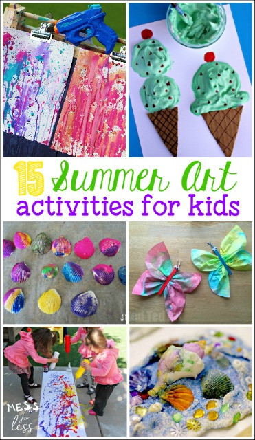 Best ideas about Summer Art Project For Kids . Save or Pin 20 Summer Activities for Preschoolers Mess for Less Now.