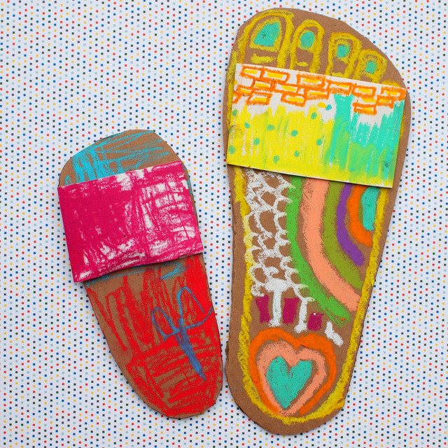 Best ideas about Summer Art Project For Kids . Save or Pin Colorful Flip Flop Artwork Now.