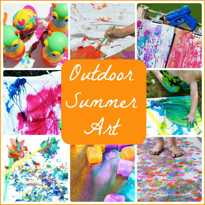 Best ideas about Summer Craft Ideas For Preschoolers . Save or Pin 15 Summer Art Projects to Try Outside Now.