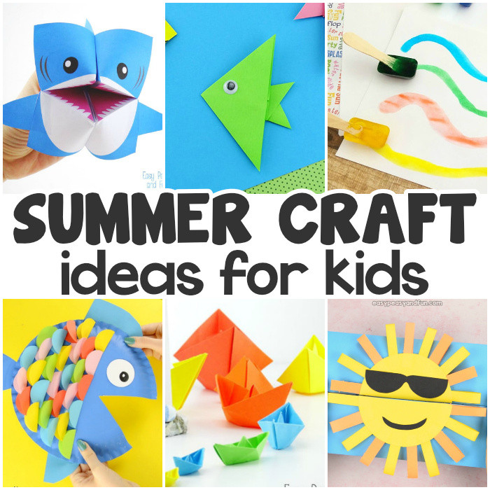 Best ideas about Summertime Craft Ideas For Kids . Save or Pin Summer Crafts Easy Peasy and Fun Now.
