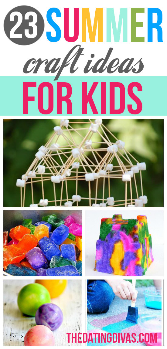 Best ideas about Summertime Craft Ideas For Kids . Save or Pin Summer Boredom Busters From The Dating Divas Now.