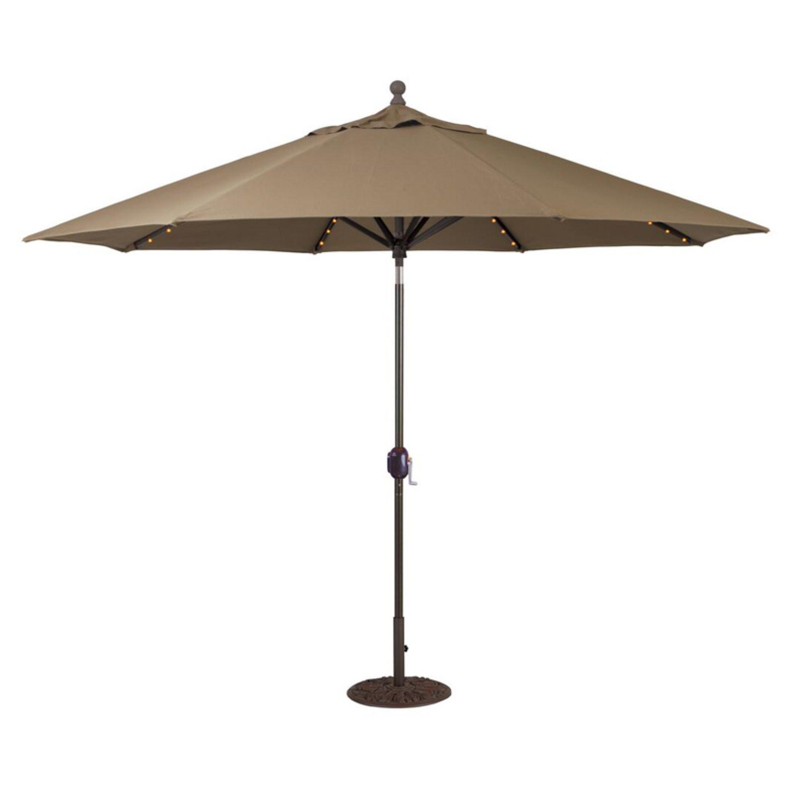 Best ideas about Sunbrella Patio Umbrellas . Save or Pin Galtech Sunbrella 11 ft Auto Tilt Patio Umbrella with LED Now.