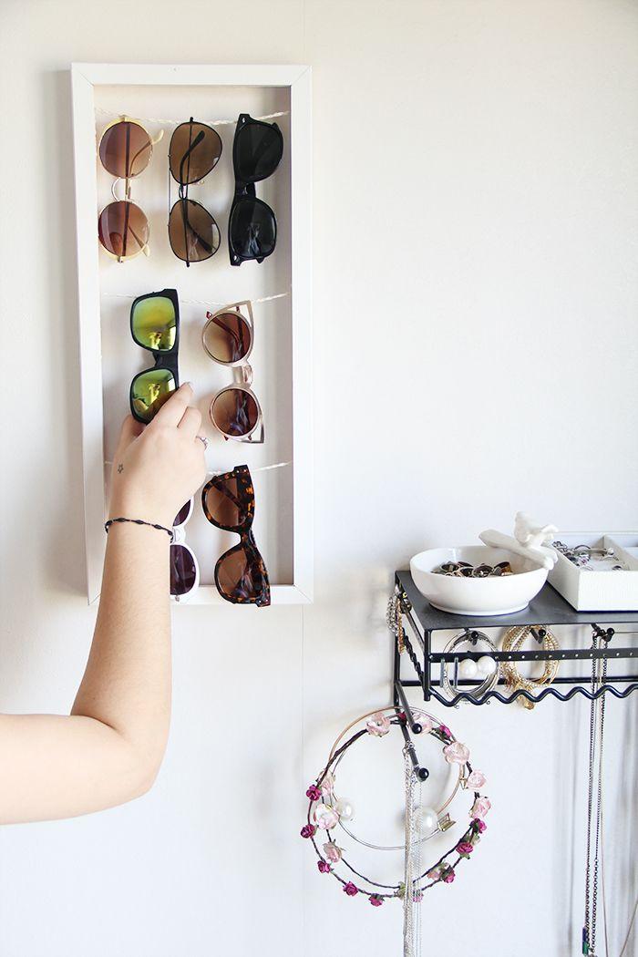 Best ideas about Sunglass Organizer DIY . Save or Pin Sunglass holder DIY Now.