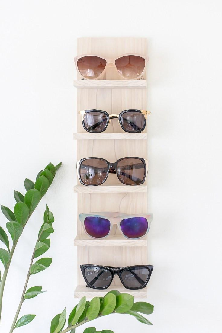 Best ideas about Sunglass Organizer DIY . Save or Pin Make a DIY Sunglasses Organizer Shelf Now.