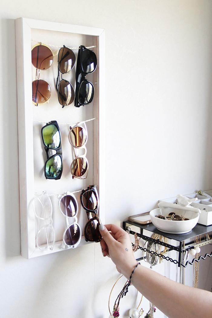 Best ideas about Sunglass Organizer DIY . Save or Pin Sunglass holder DIY – Golden Strokes Now.