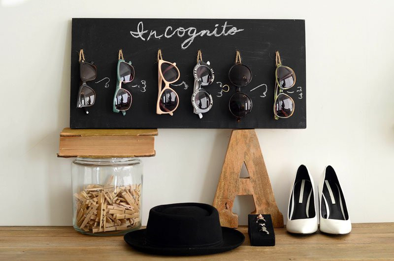 Best ideas about Sunglass Organizer DIY . Save or Pin DIY Chalkboard Sunglasses Organizer Now.