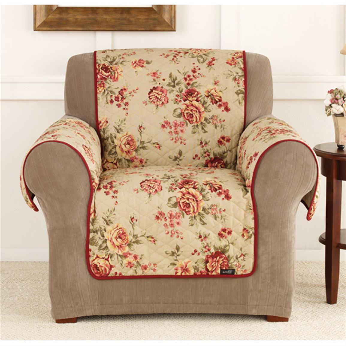 Best ideas about Sure Fit Chair Covers . Save or Pin Sure Fit Lexington Floral Chair Pet Cover Now.