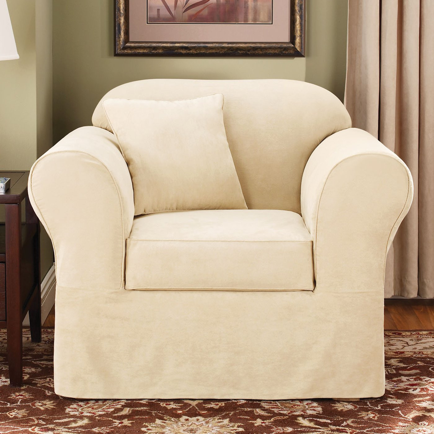 Best ideas about Sure Fit Chair Covers . Save or Pin Sure Fit Slipcovers Suede Supreme Chair Slipcover Now.