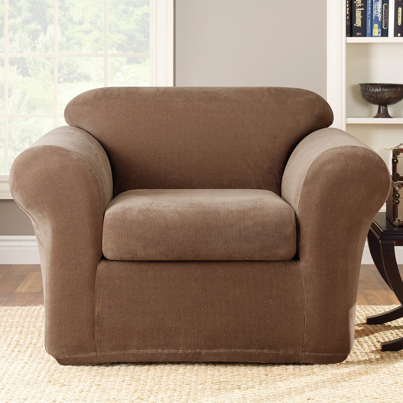 Best ideas about Sure Fit Chair Covers . Save or Pin Sure Fit Slipcovers Stretch Metro Chair Slipcover 2 PC Now.