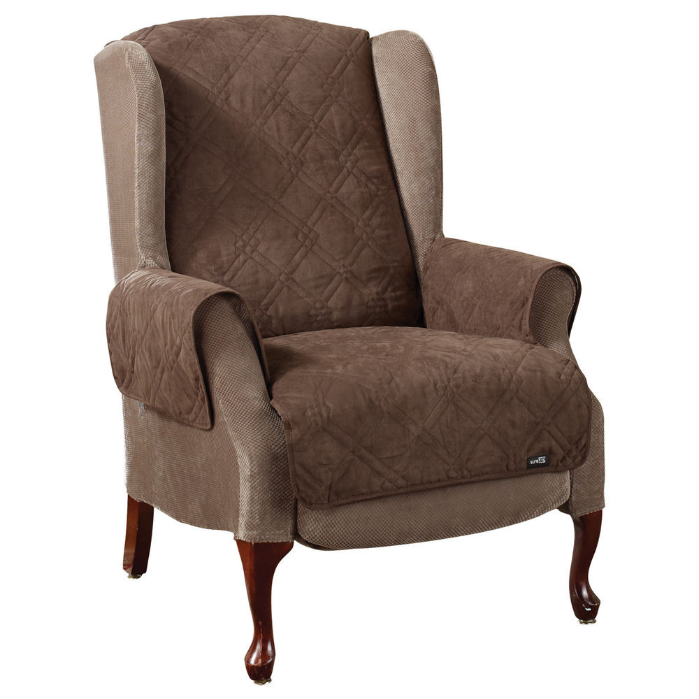 Best ideas about Sure Fit Chair Covers . Save or Pin Sure Fit Soft Suede Pet Cover Wing Chair Recliner Now.