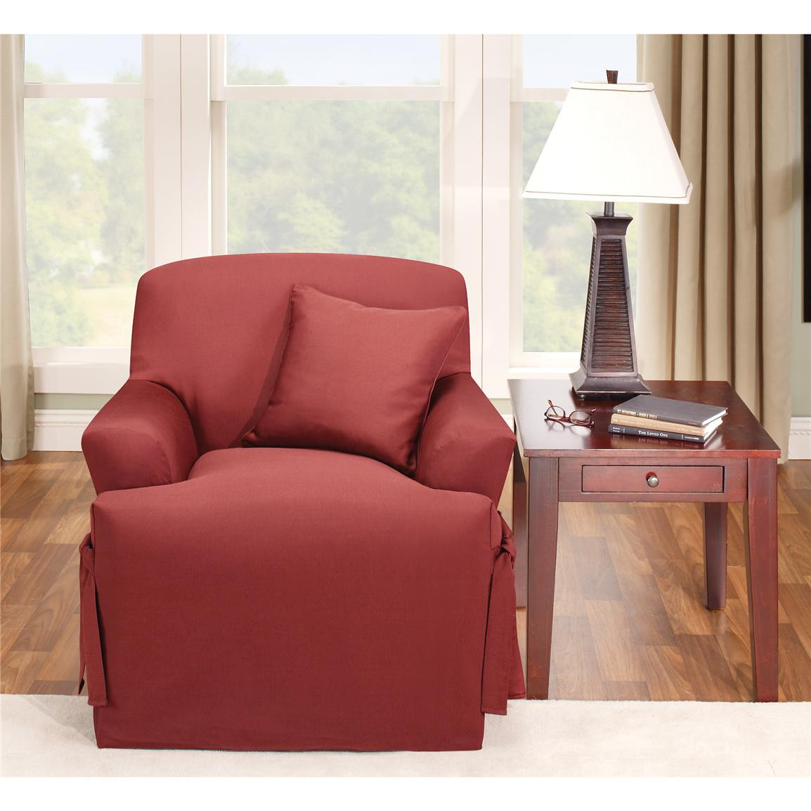 Best ideas about Sure Fit Chair Covers . Save or Pin Sure Fit Logan T cushion Chair Slipcover Now.