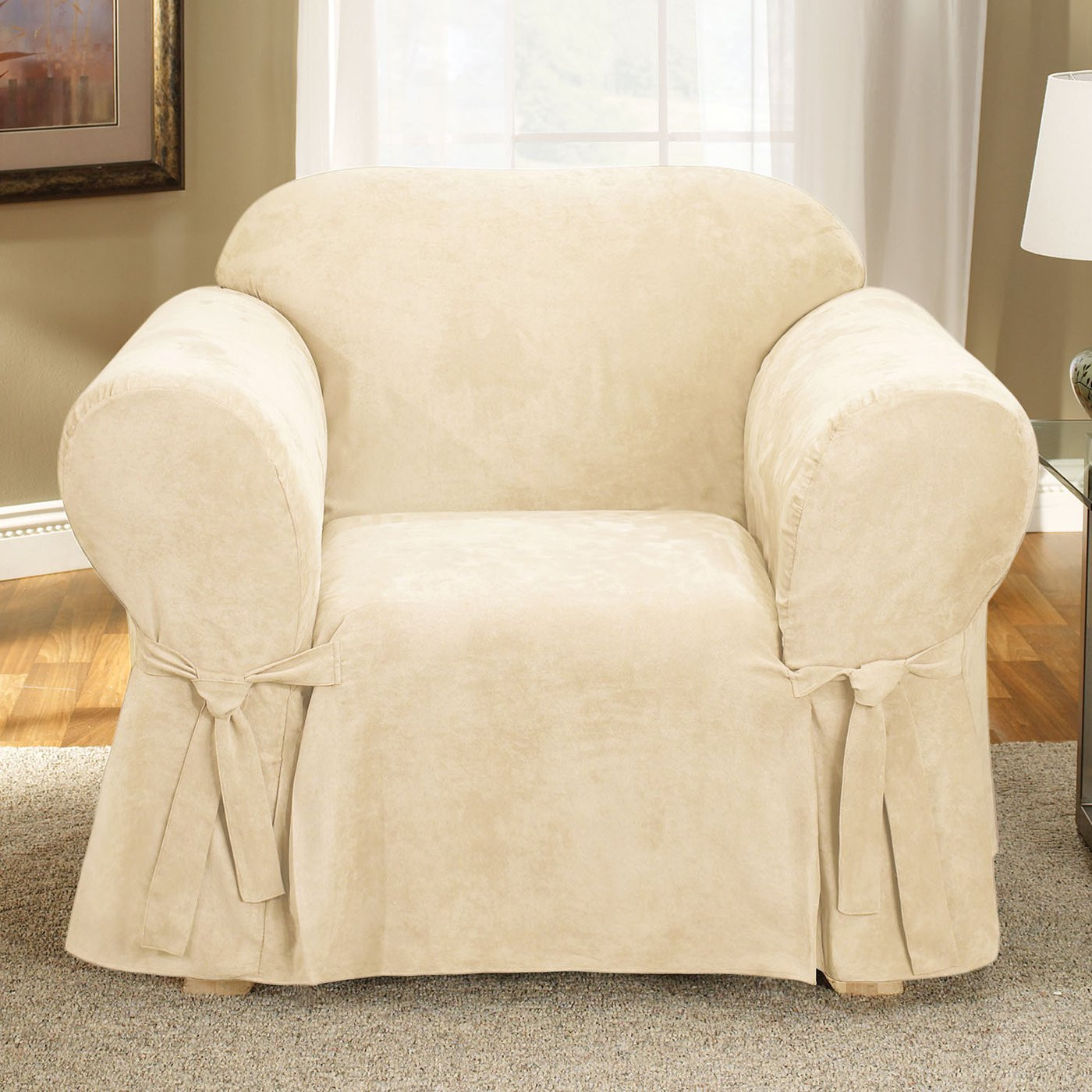 Best ideas about Sure Fit Chair Covers . Save or Pin Sure Fit Slipcovers Soft Suede 1 Piece Chair Slipcover Now.